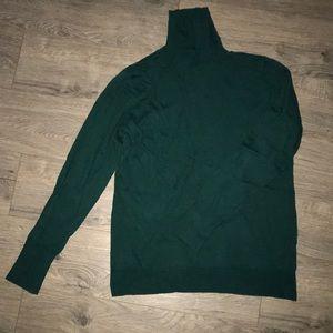 Emerald Green, Old Navy Turtleneck Sweater.